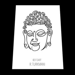 Buddha single line