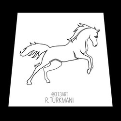 Horse single line drawing! Available for