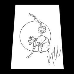 Orchid Tattoo Design