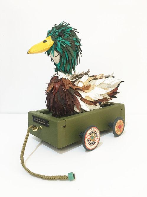 Duck pull along, heirloom piece. OOAK