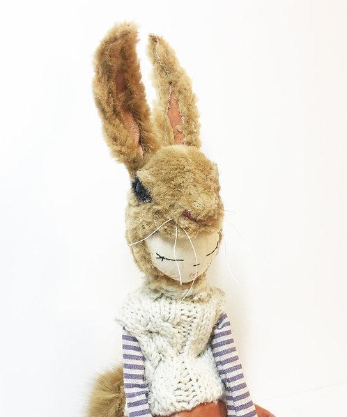 Rabbit in vintage velvet