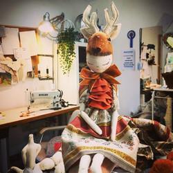 deer in peach dress 2018