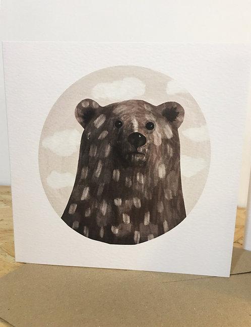 Bear limited edition card