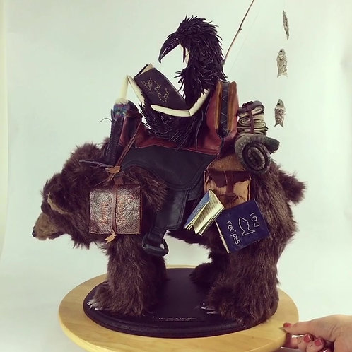 The Bear and The Crow, Textile Sculpture