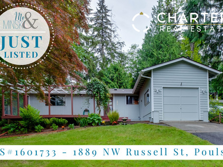 1889 NW Russell St. Poulsbo: JUST LISTED