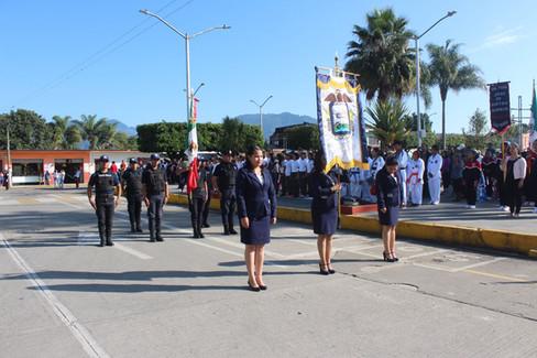 Conmemoran el 108 aniversario de la revolución, Con desfile deportivo