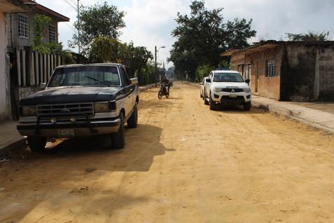 Rehabilitación de drenaje sanitario Dos calles de la tercera sección