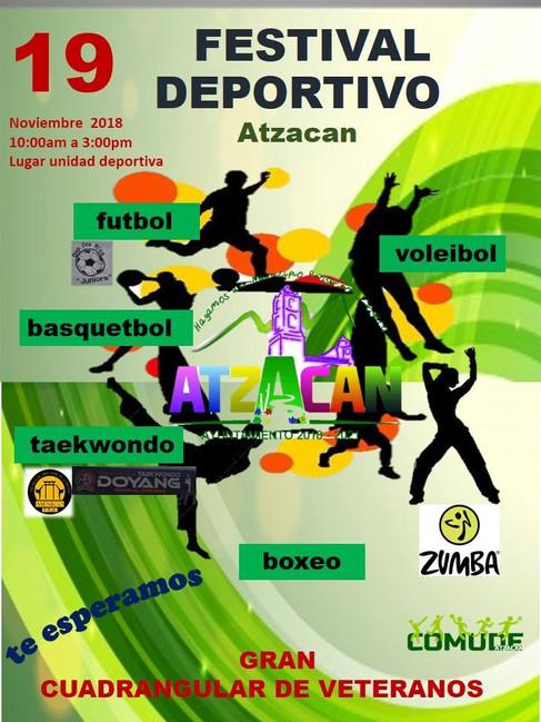 Un éxito el festival deportivo que se efectuó este 19 de noviembre, actividades que el Ayuntamiento de Atzacan organizó a través de la dirección municipal de Comude.