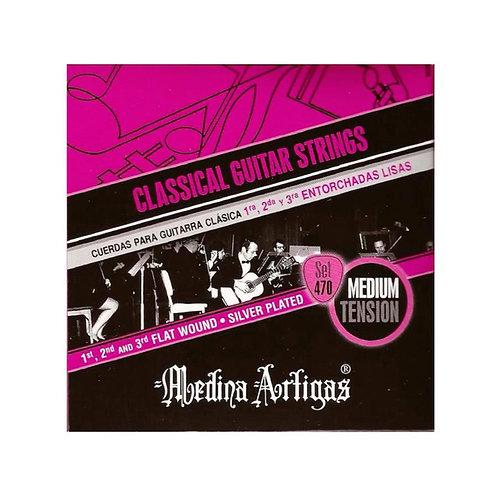 Medina Artigas Set 470 Guitarra Clásica Nylon - Medium Tens