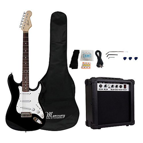 Set Guitarra Eléctrica Mercury 15w Negro