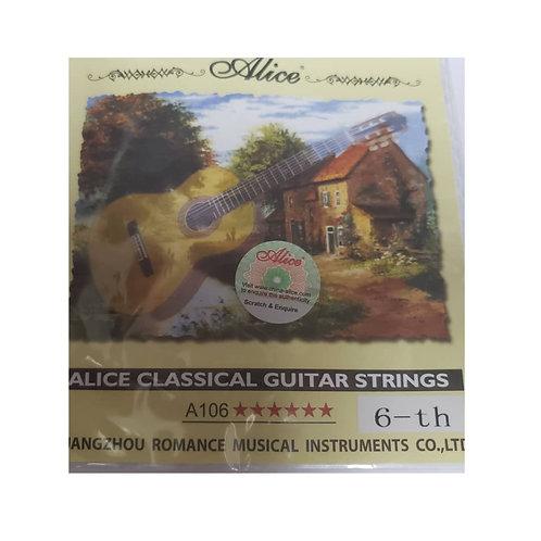 Cuerda Suelta Guitarra Acústica. 6ta Alice