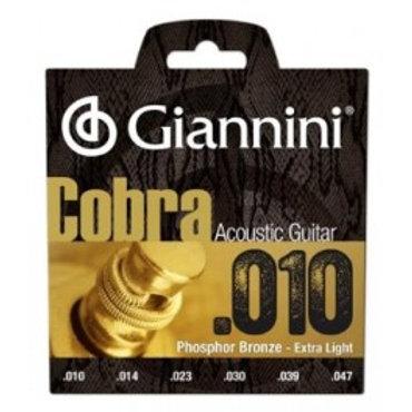 Set Cuerdas Giannini Cobra Electro Acústica .010