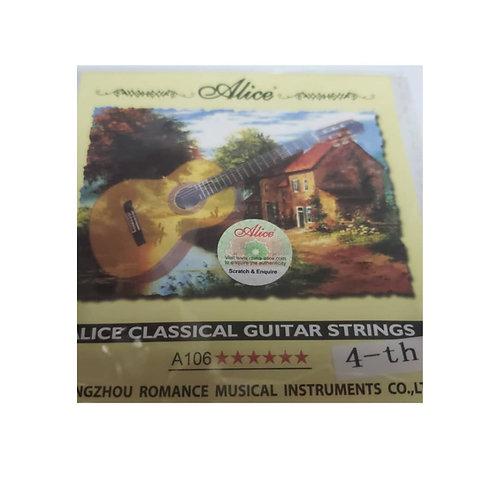 Cuerda Suelta Guitarra Acústica. 4ta Alice