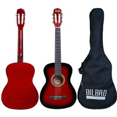 Guitarra 3/4 (36 ) Roja - Bilbao