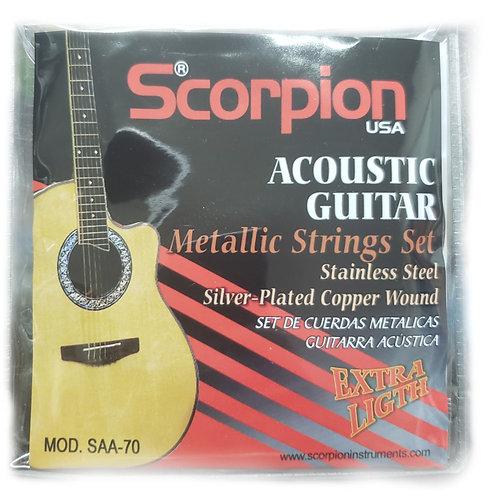 Set de cuerdas Guitarra electro acústica - scorpion