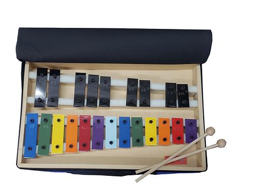 Metalofono Cromático Colores 22 Notas C/funda.
