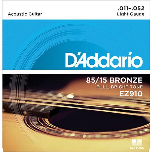 Cuerdas Guitarra Electroacustica - D´addario .011 -.052