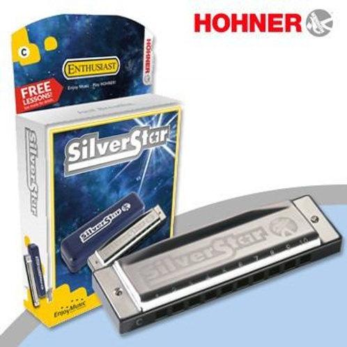 Armónica Diatonica Blues RE Silverstar -hohner