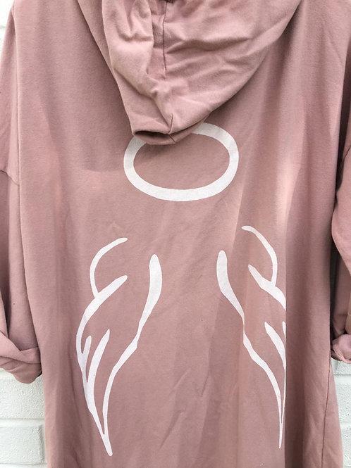 Pink angel hoodie
