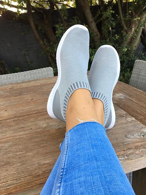 Grey sparkle comfy shoes