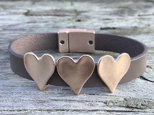 3 heart bracelet