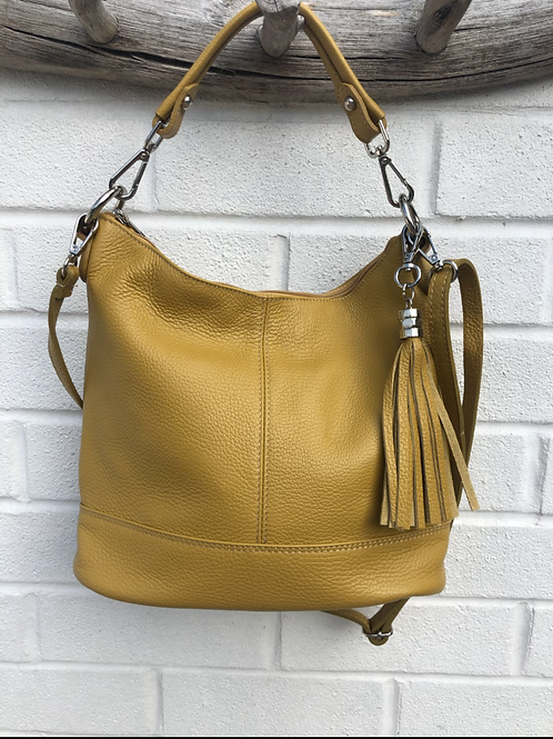 Mustard leather bag