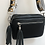 Thumbnail: Black leather bag with LOVE strap