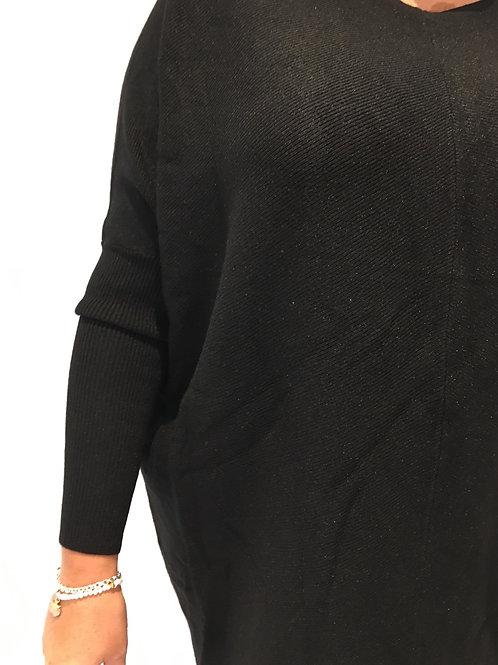 Black rib soft jumper
