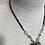 Thumbnail: Grey leopard shirt heart necklace
