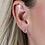 Thumbnail: Sterling silver double heart earrings