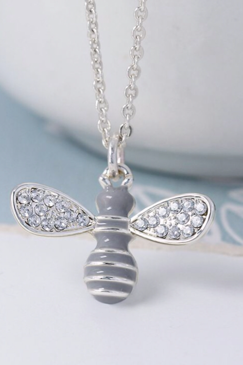 Bee necklace silver plated by Pom