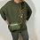 Thumbnail: Khaki leather camo strap bag