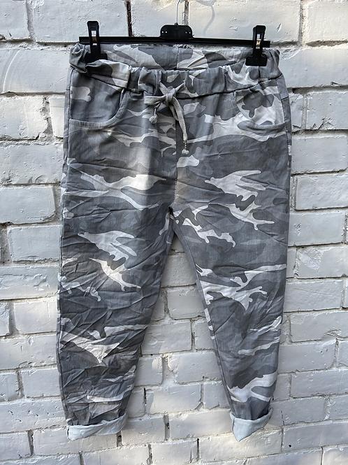 Grey camo magic pants