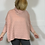 Thumbnail: Pink cable roll neck jumper