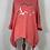 Thumbnail: Coral double foil heart sweatshirt