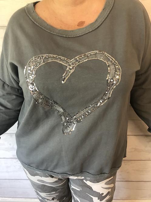 Grey heart sweatshirt