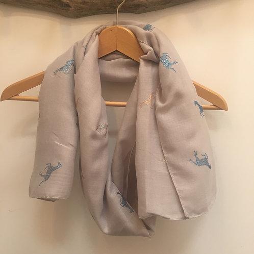 Glitter horse scarf