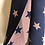 Thumbnail: Navy and pink star scarf