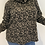 Thumbnail: Mocha leopard print soft sweater