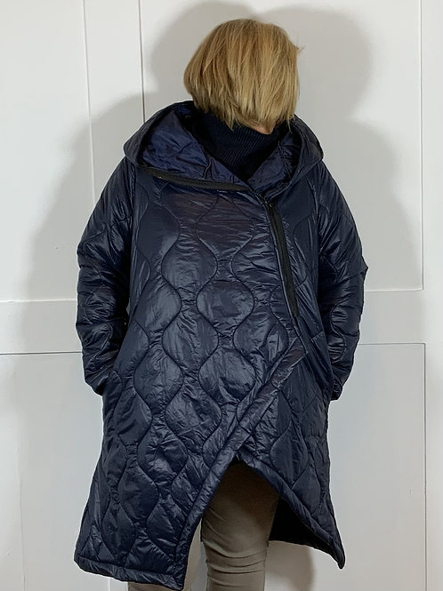 Navy quilted zip jacket