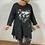 Thumbnail: Charcoal sweatshirt with foil heart