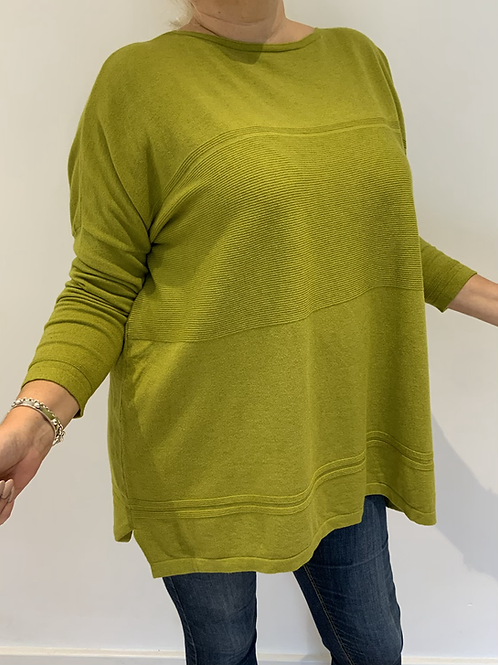 Lime green soft jumper