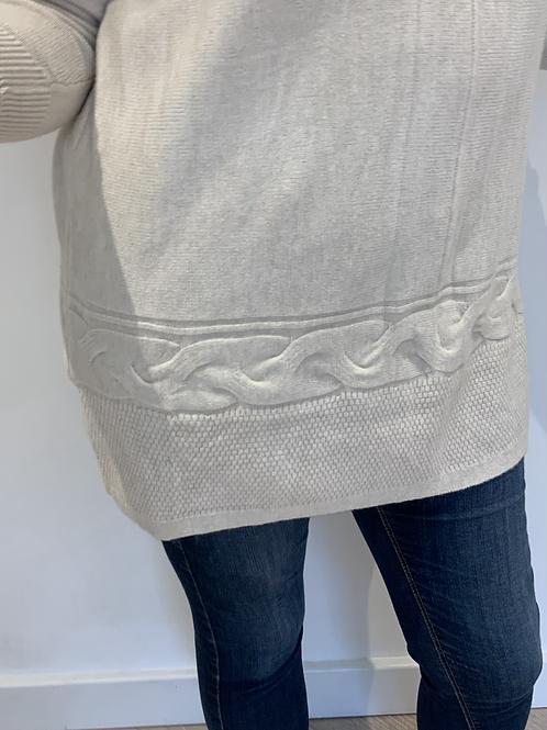 Cream plait soft jumper