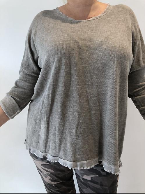 Fringe fine sweater