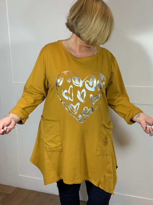 Mustard heart sweatshirt