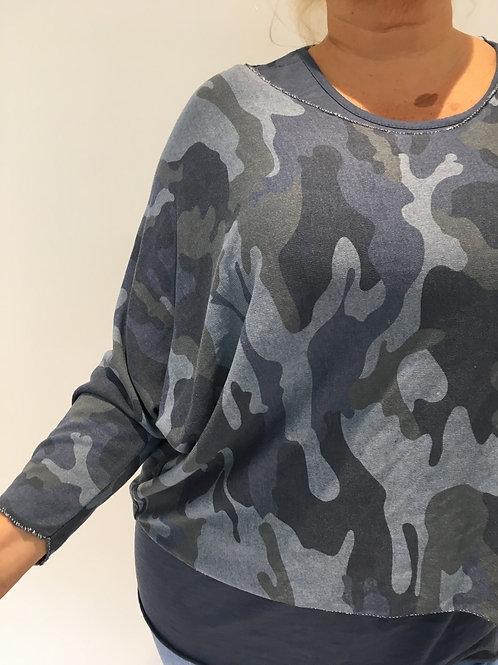 Blue camo sweater set