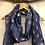 Thumbnail: Blue rose foil bee scarf