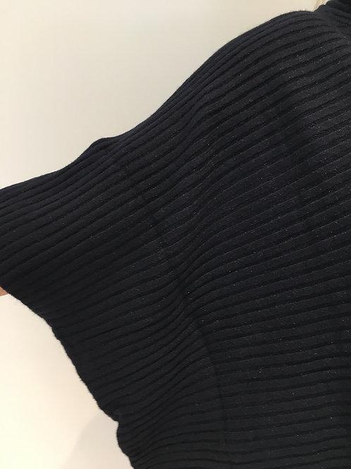 Navy rib poncho jumper