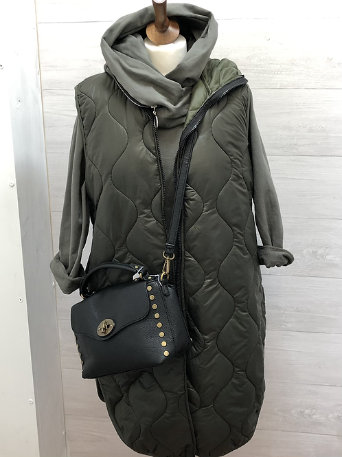 Khaki quilted gillet
