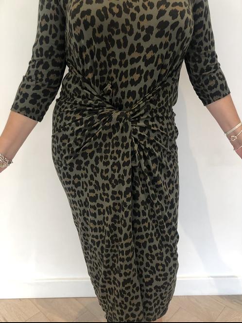 Khaki leopard magic dress